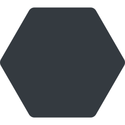 hexagon thin, up, solid, hexagon free icon 256x256 256x256px