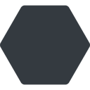 hexagon thin, up, solid, hexagon free icon 128x128 128x128px