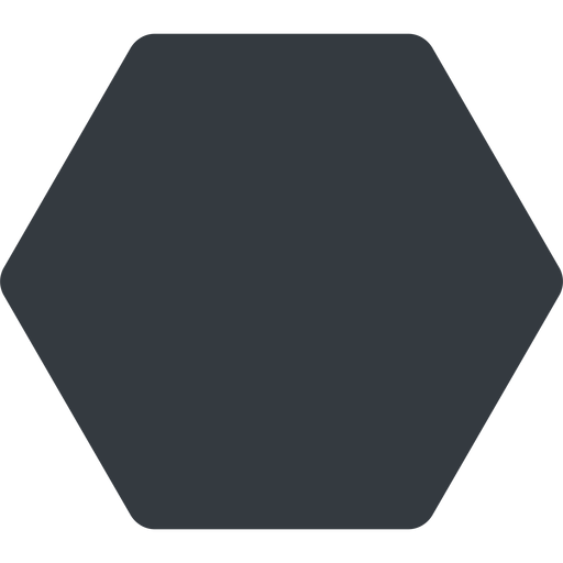 hexagon thin, up, solid, hexagon free icon 512x512 512x512px