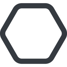 hexagon line, up, wide, hexagon free icon 256x256 256x256px