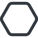 hexagon line, up, wide, hexagon free icon 128x128 128x128px