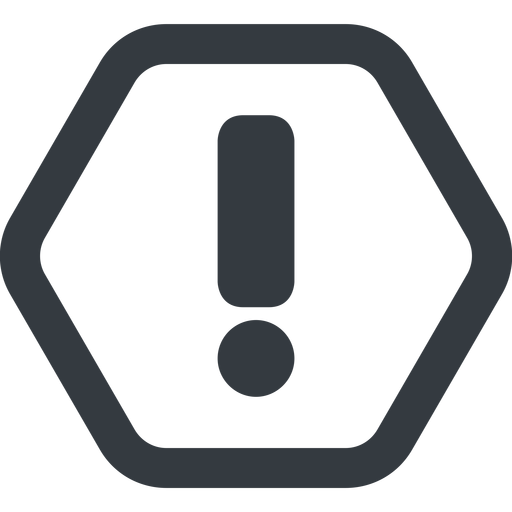 exclamation-mark line, wide, hexagon, mark, warning, exclamation, straight, info, exclamation-mark free icon 512x512 512x512px