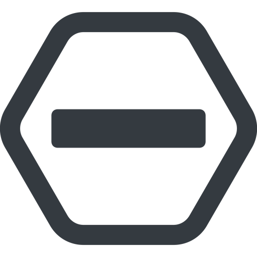 minus-solid line, up, hexagon, minus, remove, sub, substract, collapse, minus-solid, -, less free icon 512x512 512x512px