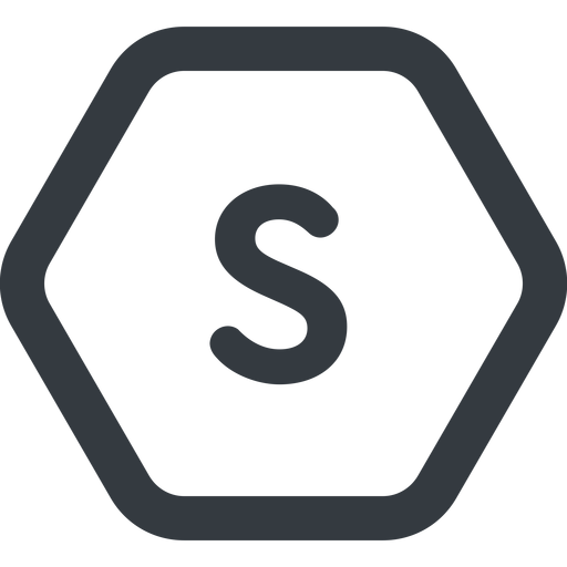 small line, wide, hexagon, small, size, s free icon 512x512 512x512px