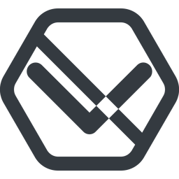 chevron-solid line, down, wide, hexagon, arrow, direction, prohibited, chevron, chevron-solid free icon 256x256 256x256px