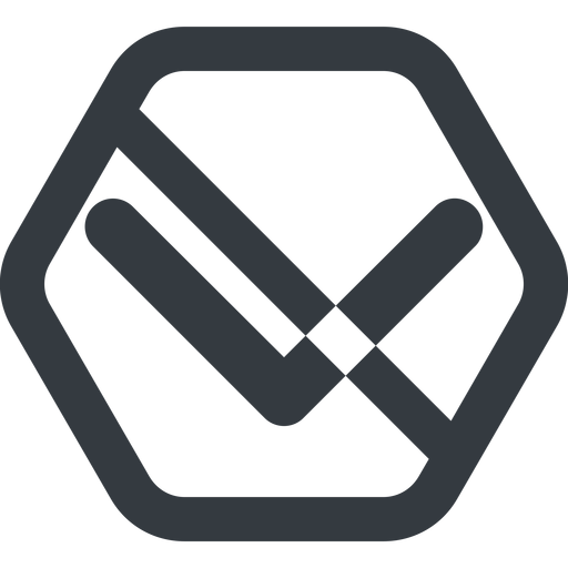 chevron-solid line, down, wide, hexagon, arrow, direction, prohibited, chevron, chevron-solid free icon 512x512 512x512px