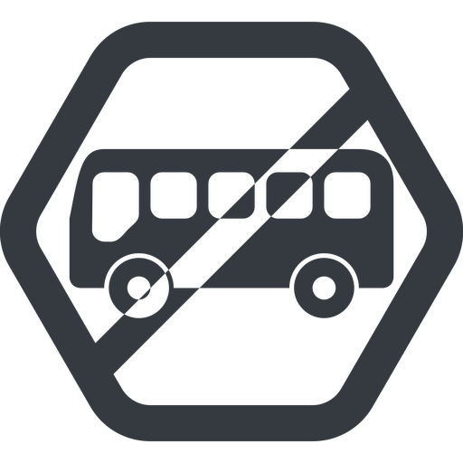 bus-side line, wide, hexagon, horizontal, mirror, car, vehicle, transport, prohibited, bus, side, bus-side free icon 512x512 512x512px