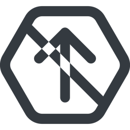 arrow-simple-wide line, up, hexagon, arrow, direction, prohibited, arrow-simple-wide free icon 256x256 256x256px