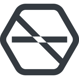 minus-wide line, up, wide, hexagon, minus, remove, sub, substract, prohibited, collapse, minus-wide, -, less free icon 256x256 256x256px