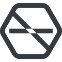 minus-wide line, up, wide, hexagon, minus, remove, sub, substract, prohibited, collapse, minus-wide, -, less free icon 128x128 128x128px