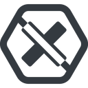 times-solid line, wide, hexagon, times, cross, error, not, remove, no, prohibited, delete, times-solid, danger, close, cancel free icon 128x128 128x128px