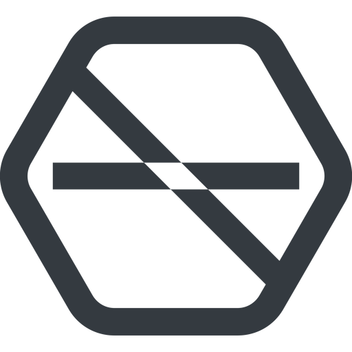 minus-wide line, up, wide, hexagon, minus, remove, sub, substract, prohibited, collapse, minus-wide, -, less free icon 512x512 512x512px