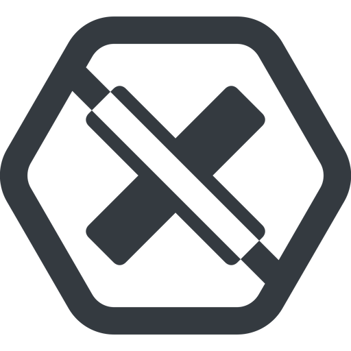 times-solid line, wide, hexagon, times, cross, error, not, remove, no, prohibited, delete, times-solid, danger, close, cancel free icon 512x512 512x512px