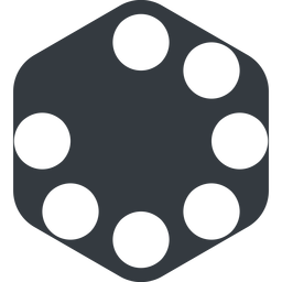 spinner-wide left, wide, solid, hexagon, spinner, spin, wait, load, loading, spinner-wide, loader free icon 256x256 256x256px