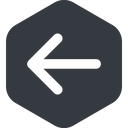 arrow-simple-wide left, solid, hexagon, arrow, direction, arrow-simple-wide free icon 128x128 128x128px