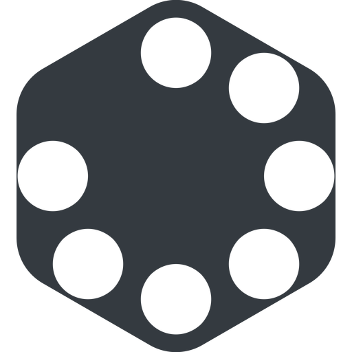 spinner-wide left, wide, solid, hexagon, spinner, spin, wait, load, loading, spinner-wide, loader free icon 512x512 512x512px