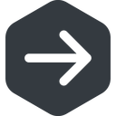 arrow-simple-wide right, solid, hexagon, arrow, direction, arrow-simple-wide free icon 128x128 128x128px