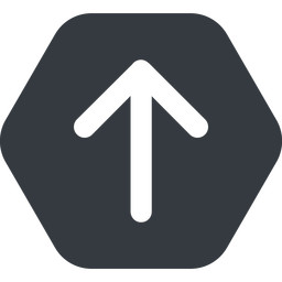 arrow-simple-wide up, solid, hexagon, arrow, direction, arrow-simple-wide free icon 256x256 256x256px
