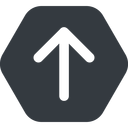 arrow-simple-wide up, solid, hexagon, arrow, direction, arrow-simple-wide free icon 128x128 128x128px
