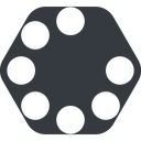 spinner-wide up, wide, solid, hexagon, spinner, spin, wait, load, loading, spinner-wide, loader free icon 128x128 128x128px