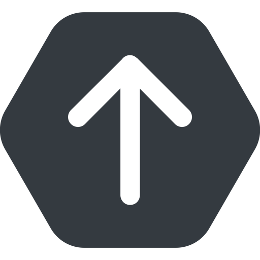 arrow-simple-wide up, solid, hexagon, arrow, direction, arrow-simple-wide free icon 512x512 512x512px