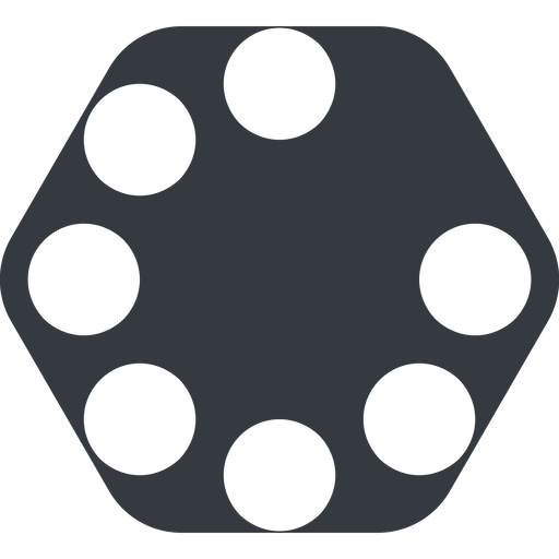 spinner-wide up, wide, solid, hexagon, spinner, spin, wait, load, loading, spinner-wide, loader free icon 512x512 512x512px
