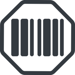 barcode-solid line, normal, solid, octagon, barcode, barcode-solid free icon 256x256 256x256px