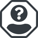 anonymous-user-circle-solid line, normal, circle, octagon, user, man, woman, person, user-circle, anonymous, anonymous-user, anonymous-user-circle, incognito, unidentified, anonym, anonymous-user-circle-solid free icon 128x128 128x128px