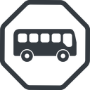 bus-side line, normal, wide, octagon, car, vehicle, transport, bus, side, bus-side free icon 128x128 128x128px