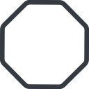 octagon line, normal, octagon free icon 128x128 128x128px
