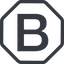 Line, normal, octagon, logo, brand, bootstrap, b, letter, bootstrap-b icon