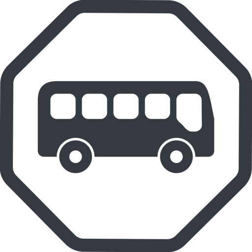 bus-side line, normal, wide, octagon, car, vehicle, transport, bus, side, bus-side free icon 512x512 512x512px