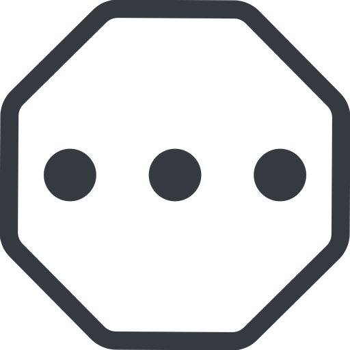 ellipsis line, up, normal, octagon, ellipsis, three, dots, wider, menu, collapse, ... free icon 512x512 512x512px