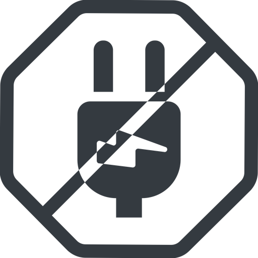 plug-alt line, left, normal, octagon, prohibited, electricity, plug, charge, charger, electric, electrics, electrical, plug-alt free icon 512x512 512x512px