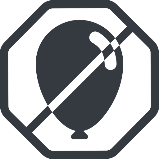balloon-solid line, normal, solid, octagon, horizontal, mirror, prohibited, balloon, party, birthday, carnival, helium, balloons, balloon-solid free icon 512x512 512x512px