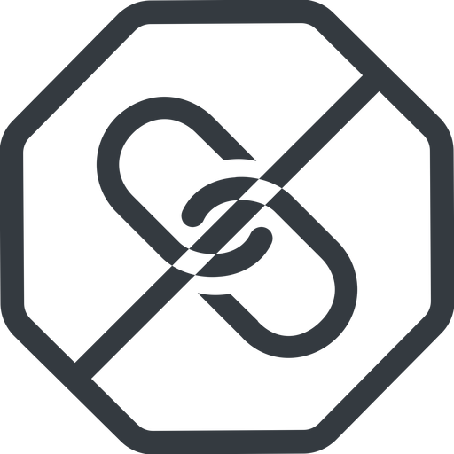 link line, octagon, horizontal, mirror, hypertext, prohibited, link, url, href, chain free icon 512x512 512x512px
