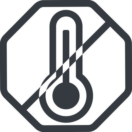 temperature-high line, normal, octagon, horizontal, mirror, prohibited, temperature, thermometer, heat, high, temperature-high, hot free icon 512x512 512x512px