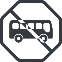 bus-side line, normal, wide, octagon, car, vehicle, transport, prohibited, bus, side, bus-side free icon 256x256 256x256px