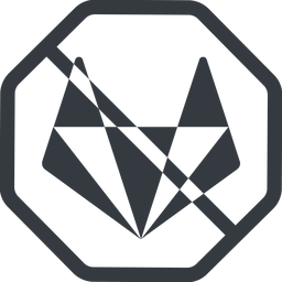 gitlab-alt-solid line, normal, solid, octagon, brand, social, network, prohibited, repo, gitlab, gitlab-alt, gitlab-alt-solid, wolf free icon 256x256 256x256px