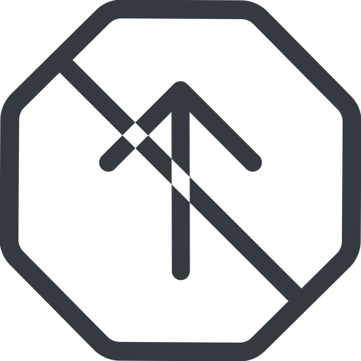 arrow-simple line, up, octagon, arrow, direction, prohibited, arrow-simple free icon 512x512 512x512px