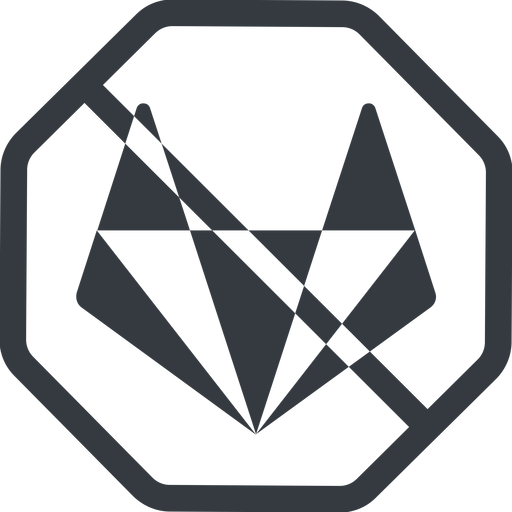 gitlab-alt-solid line, normal, solid, octagon, brand, social, network, prohibited, repo, gitlab, gitlab-alt, gitlab-alt-solid, wolf free icon 512x512 512x512px
