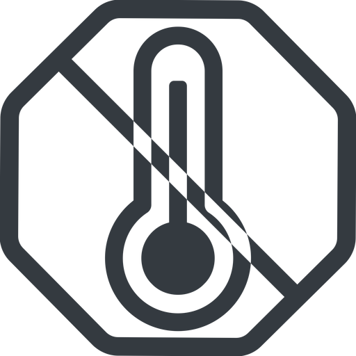 temperature-high line, normal, octagon, prohibited, temperature, thermometer, heat, high, temperature-high, hot free icon 512x512 512x512px