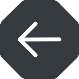 arrow-simple left, solid, octagon, arrow, direction, arrow-simple free icon 256x256 256x256px
