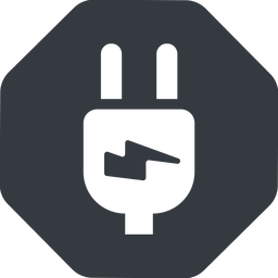 plug-alt left, normal, solid, octagon, electricity, plug, charge, charger, electric, electrics, electrical, plug-alt free icon 256x256 256x256px