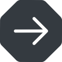 arrow-simple right, solid, octagon, arrow, direction, arrow-simple free icon 128x128 128x128px