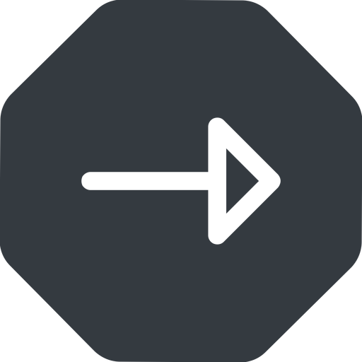 arrow right, normal, solid, octagon, arrow free icon 512x512 512x512px