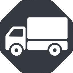 truck-solid normal, solid, octagon, horizontal, mirror, truck, delivery, van, lorry, truck-solid free icon 256x256 256x256px