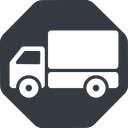 truck-solid normal, solid, octagon, horizontal, mirror, truck, delivery, van, lorry, truck-solid free icon 128x128 128x128px