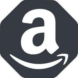 amazon normal, solid, octagon, logo, brand, shop, buy, ecommerce, market, place, amazon free icon 256x256 256x256px