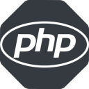 php-elips normal, solid, octagon, php, hypertext, preprocessor, elipse, php-elips free icon 128x128 128x128px